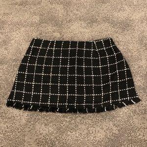 Tobi | Tweed Check Mini Skirt